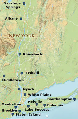 Map of the Hudson Valley